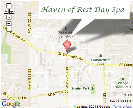 Map to Haven of Rest Day Spa